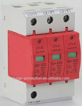 Type 1, Class B, Imax (8/20) 60kA, Iimp (10/350) 10kA, 3P, Cabinet surge protection for TN-C systems (3-phase)