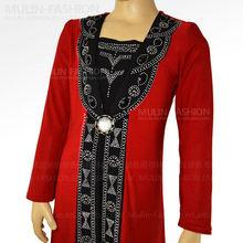 2013 New Fashion Girls Abaya Islamic clothing 8 Corlors Diamond Design