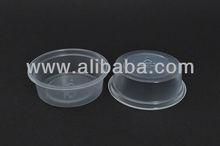 50ml 2 oz PP Transparent & White Disposable Plastic Sauce Cup