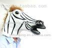 caliente venta total de la cabeza del partido espeluznante de látex caballo de cebra máscaras de la venta