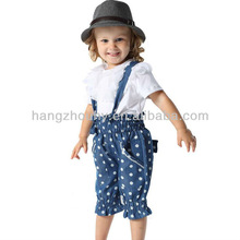 Summer t shirt tops girls suspender trousers suit