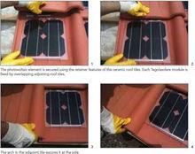 Solar roof tile energy 'Tegolasolare' BIPV solar panel
