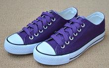 Purple classic vulcanized canvas shoes for women