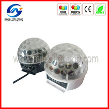 DMX 6pcsx3w RGB LED ışık 12v sihirli disko topu kristal
