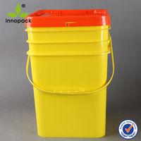 Customize 20L square plastic pails with handles