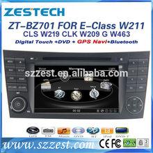 "ZESTECH OEM 7"" Touch screen Car Dvd for Benz E-Class W211 CLS W219 CLK W209 G W463 Car DVD GPS with radio audio navigation"
