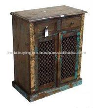 Reclaimed Wood jali chest