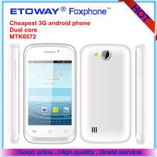 cheapest 3G dual core smart phone F36 MTK6572