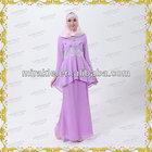 MF20672 Purple Chiffon baju kurung modern