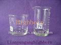 laboratorio de consumo de sílice fundido vaso de precipitados de cuarzo