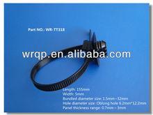 Disposable Plastic Zip Binding weather resistant cable ties