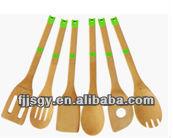 silicone kitchenware set, cooking utensil with silicon, 6pcs kitchenware set