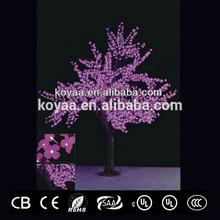 2.5m height Artificial Christmas led holiday lighting FZ-1536 pink