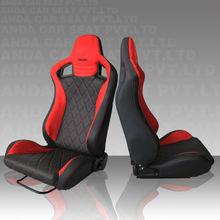 RECARO Racing Style Car Seat AD-2/PVC leather red black
