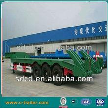 40 ton BPW axle semi trailer and truck trailer low bed semi trailer dimensions