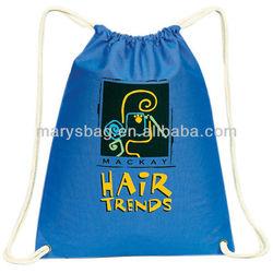 Natural 8 oz. Raw Cotton Canvas Drawstring bag