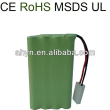 UL, CE, ROHS Approved AAA 800mAh 9.6V NIMH rechargeable battery pack for RC toy, electric toy, power tool