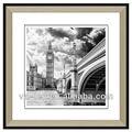 blanco y negro del puente de la imagen y la imagen del reloj marcos