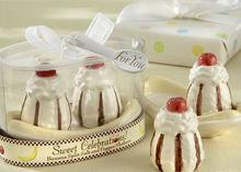 """Sweet Celebrations!"" Ceramic Banana Split Salt and Pepper Shaker for wedding favors and gifts"