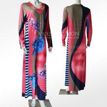 2013 New Design Bead &Rhine Stone&Printing Wholesale Islamic Clothing Wome Abaya