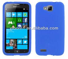 Blue Silicon Skin phone Case for Samsung Ativ S T899M for Dubai