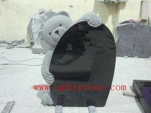 animal/pet shape children's memorials / granite teddy bear headstone supplier