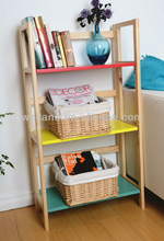 Colorful folding book shelf wooden
