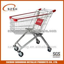 European style metal shopping trolley125L