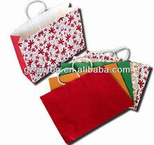 Luxury fancy colorful white kraft paper shopping bag