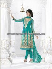 Blue Elegant Anarkali Shalwar Kameez Un Stitched