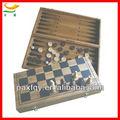 3 في 1 الكبيرة 2 لاعب لعبة الشطرنج خشبية كلاسيكية