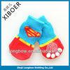 China manufacturer high quality super-man knitting pet socks, non-skid dog socks