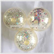 2014 cheap super air bouncing balls transparent skin <TPU Ball+Air+Different Shapes of Spangles>