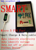 Smart charge data cable smart charger cable, digital visible