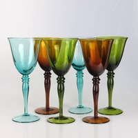 Best Selling Crystal Colored Beaded Wine Glass