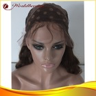 Stock wholesale price brazilian wavy 4/27# highlights lace front wig