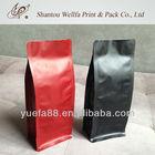 Flat bottom ziplock bag aluminium foil bag for coffee packaging