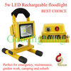 5W solar led flood lights outdoor for emergency, camping and car fixing with CE, ROHS, TUV Certificate