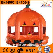 EN14960 halloween pumpkin inflatable haunted house
