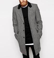 Mens long Wool Coat 2015 new look