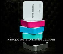 Hot sale square 6600mah double portable telephone power bank