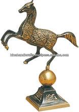 Vintage Brass Dancing Horse