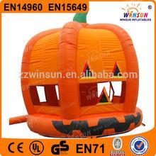 0.55mm Plato PVC tarpaulin WSC-085 pumpkin theme large inflatable toys for rental
