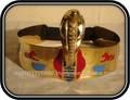 Cleópatra coroa de ouro- egípcia trajes para haloween