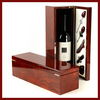 luxury hot sale high gloss lacquer finish wooden wine box with wine accessories