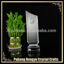 láser de grabado de vidrio de cristal de adjudicación trofeo placa