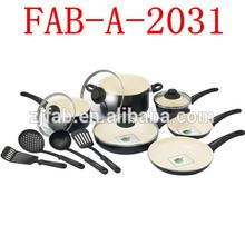 Healthy Aluminum Ceramic 14pcs Cookware Set