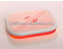 Eco-friend convenient foldable funny lunch box keep food cold