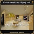 rodada de metal roupa rack display para a menina moda roupas loja de design de interiores