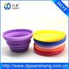silicone rubber collapsing folding bowl /FDA silicone washing up bowl